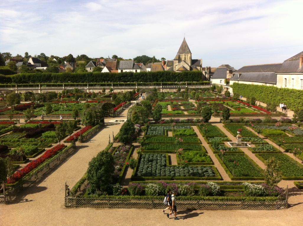 Jardins potagers vus du château