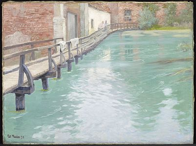 Fritz thaulow the mills at montreuil sur mer normandy 84 136 minneapolis institute of arts