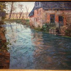 River in normandy by frits thaulow 1894 oil on canvas huntington museum of art dsc05218